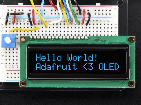 Blue Character OLED 16x2