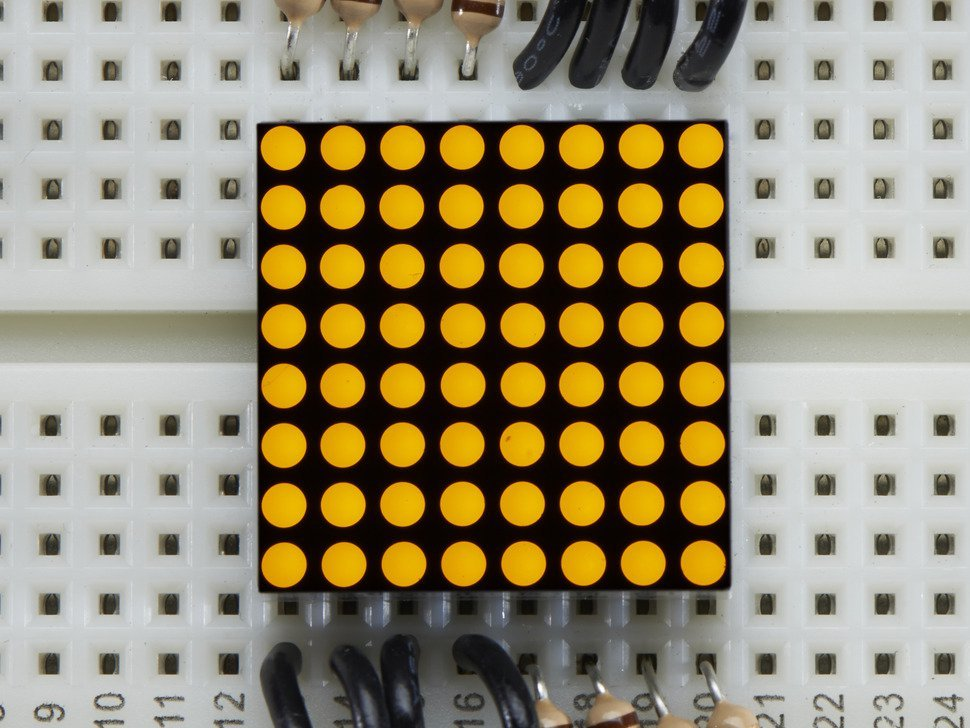 Miniature 8x8 yellow led matrix 550258724