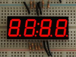 "Red 7-segment clock display - 0.56"" digit height"
