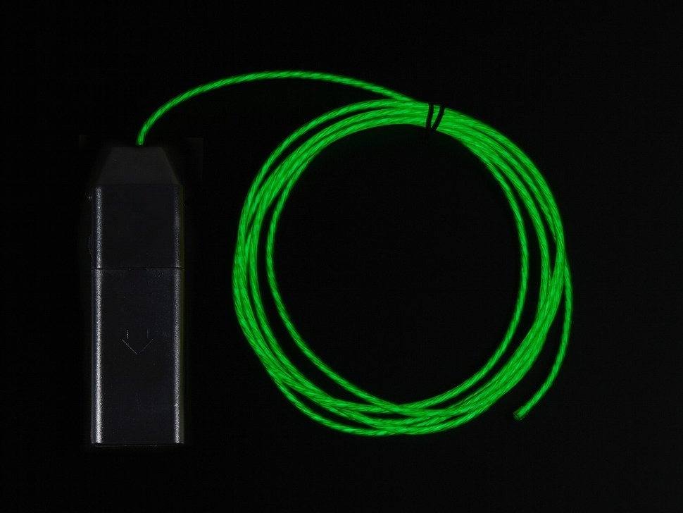 EL Flowing Effect Wire with Inverter - Green 2.0 meter (6.5 ft) in ...