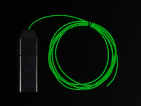 EL Flowing Effect Wire with Inverter - Green