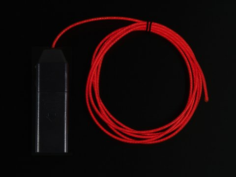 EL Flowing Effect Wire with Inverter - Pink 2.0 meter (6.5 ft)
