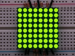 "Small 1.2"" 8x8 Ultra Bright Yellow-Green LED Matrix - KWM-30881CUGB"