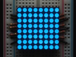 "Small 1.2"" 8x8 Ultra Bright Blue LED Matrix - KWM-30881CBB"