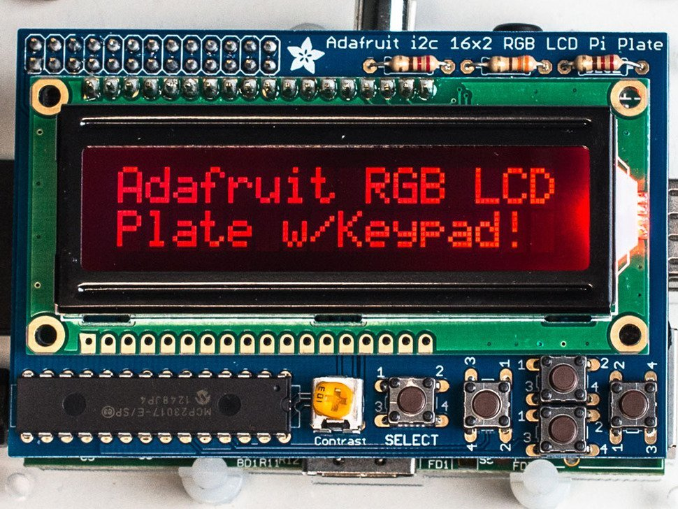Adafruit rgb negative 16x2 lcd plus keypad ki 9842747154