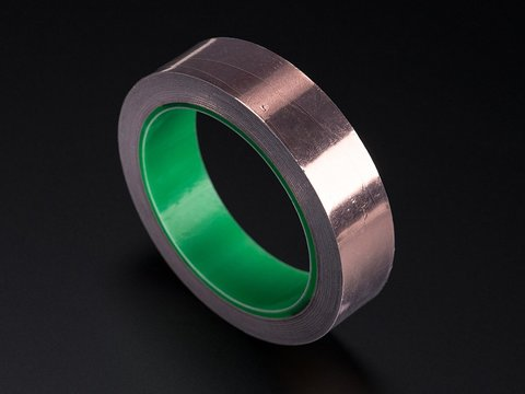 Copper Foil Tape wth Conductive Adhesive - 25mm x 15 meter roll