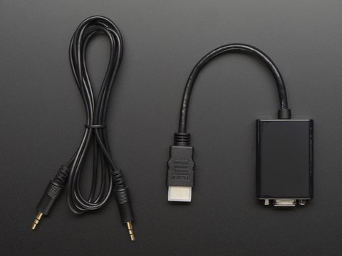HDMI to VGA Video Adapter and 3.5mm Male/Male Stereo Cable