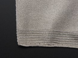 Knit conductive fabric silver 20cm squ 2108080413