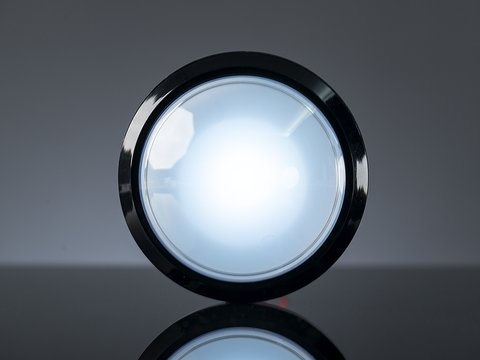 Massive Arcade Button with LED - 100mm White