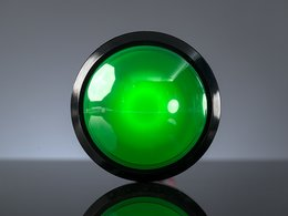 Massive Arcade Button with LED - 100mm Green