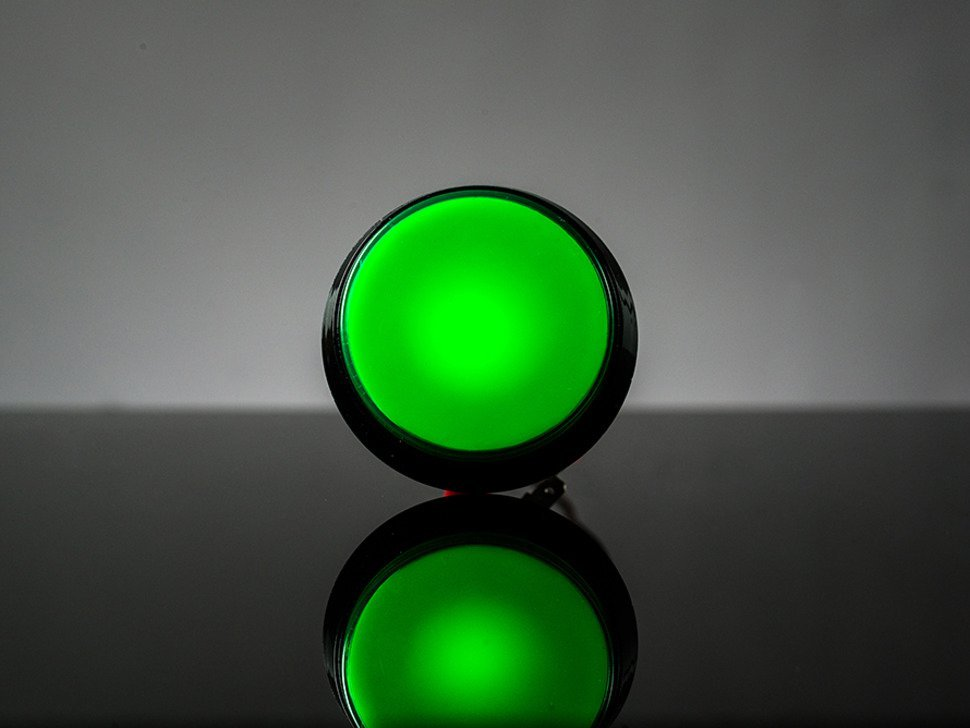 Large arcade button with led 60mm gree 7500622225