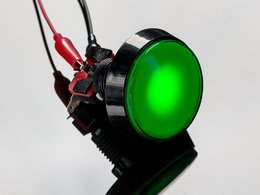 Large arcade button with led 60mm gree 9333732614