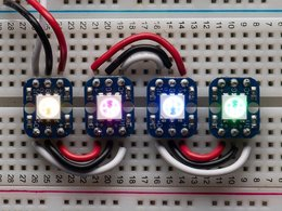 Breadboard friendly rgb smart neopixel 4958773692
