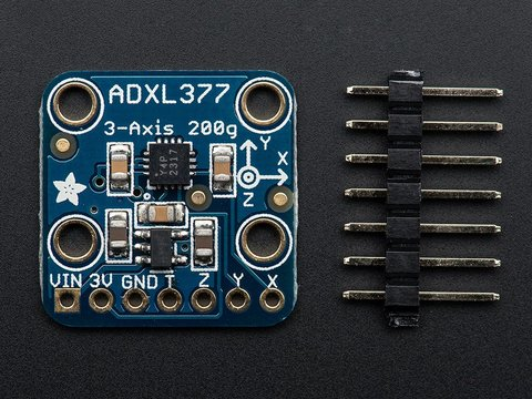 ADXL377 - High-G Triple-Axis Accelerometer (+ / - 200g Analog Out)