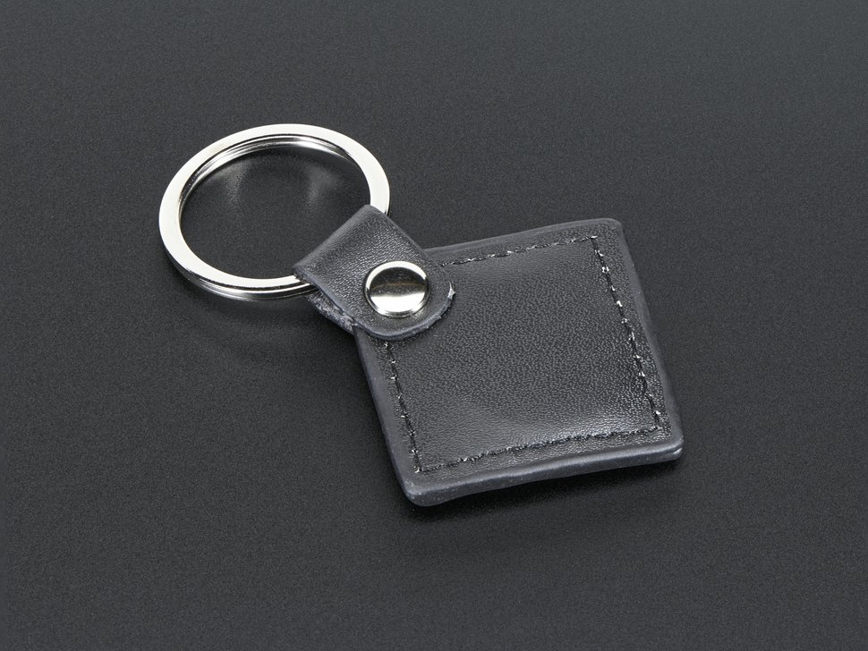 13 56MHz RFID/NFC Leather Keychain Fob - 1KB
