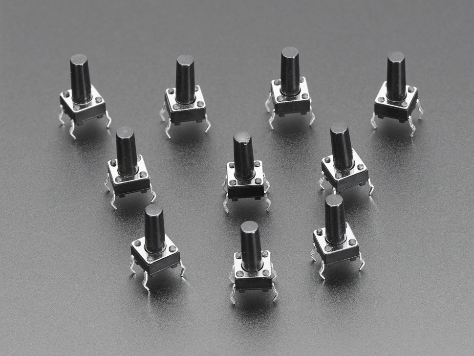 Tactile switch buttons 6mm tall x 10 p 1765462415