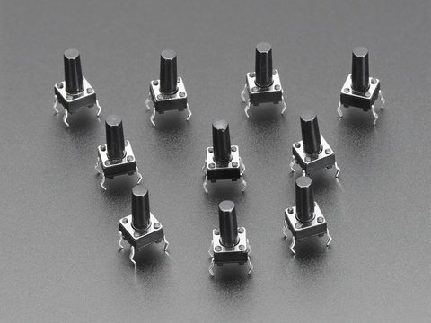 Tactile Switch Buttons (6mm tall) x 10 pack