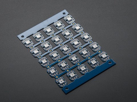 Breadboard-friendly RGB Smart NeoPixel - Sheet of 25