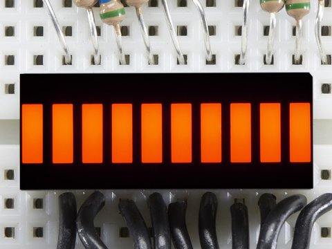 10 Segment Light Bar Graph LED Display - Amber - KWL-R1025UAB