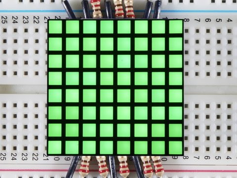 "1.2"" 8x8 Matrix Square Pixel - Pure Green - KWM-R30881CPGB"