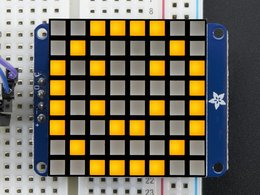 "Small 1.2"" 8x8 Ultra Bright Square Yellow LED Matrix + Backpack"