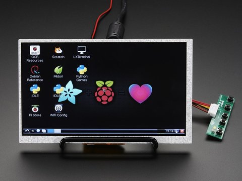 "HDMI 4 Pi: 7"" Display (no Touch) w/Mini Driver - 800x480 HDMI"