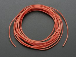Silicone Cover Stranded-Core Wire - 2m 30AWG Red