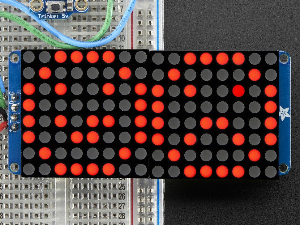 16x8 1 dot 2 led matrix plus backpack ultra 3390829065