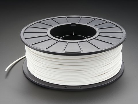 ABS Filament for 3D Printers - 3mm Diameter - White - 1KG