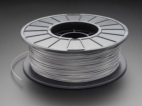 PLA/PHA Filament for 3D Printers - 1.75mm Diameter - 1KG - Silver