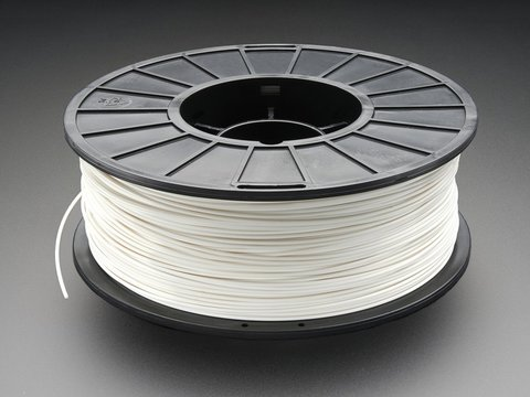 ABS Filament for 3D Printers - 1.75mm Diameter - White - 1KG