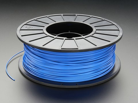 PLA Filament for 3D Printers - 1.75mm Diameter - Blue - 1KG