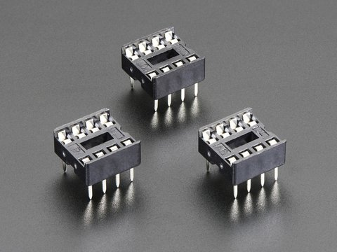 "IC Socket - for 8-pin 0.3"" Chips - Pack of 3"