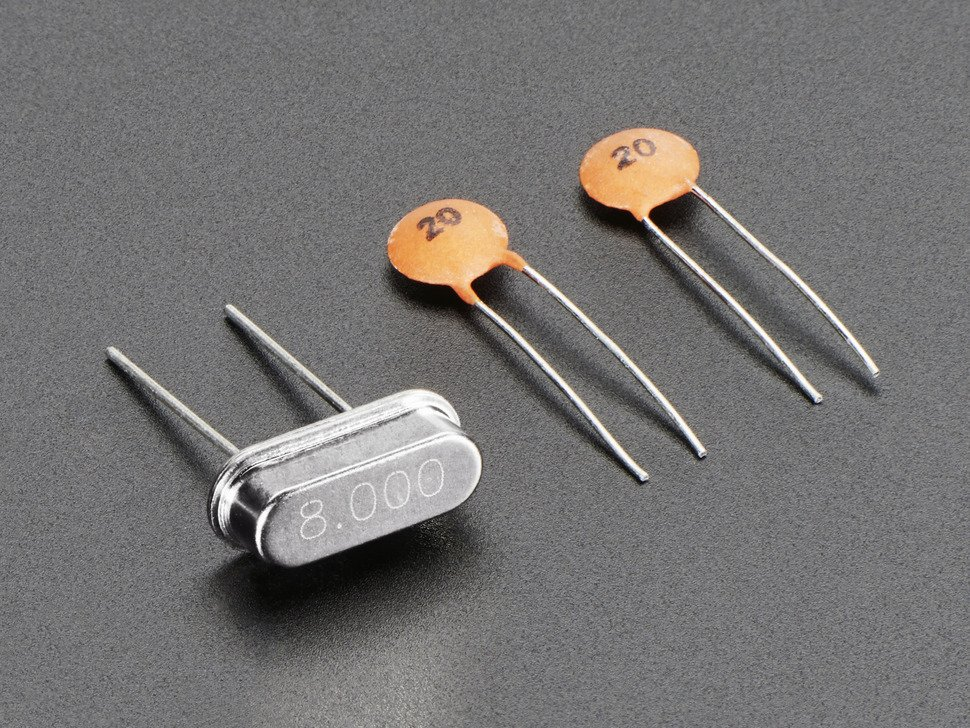 8 mhz crystal plus 20pf capacitors 752854123