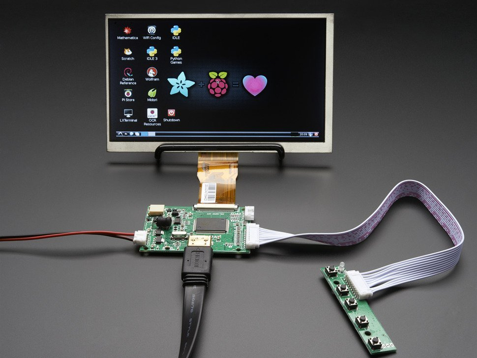 Hdmi 4 pi 7 display no touchscreen 102 4892421616