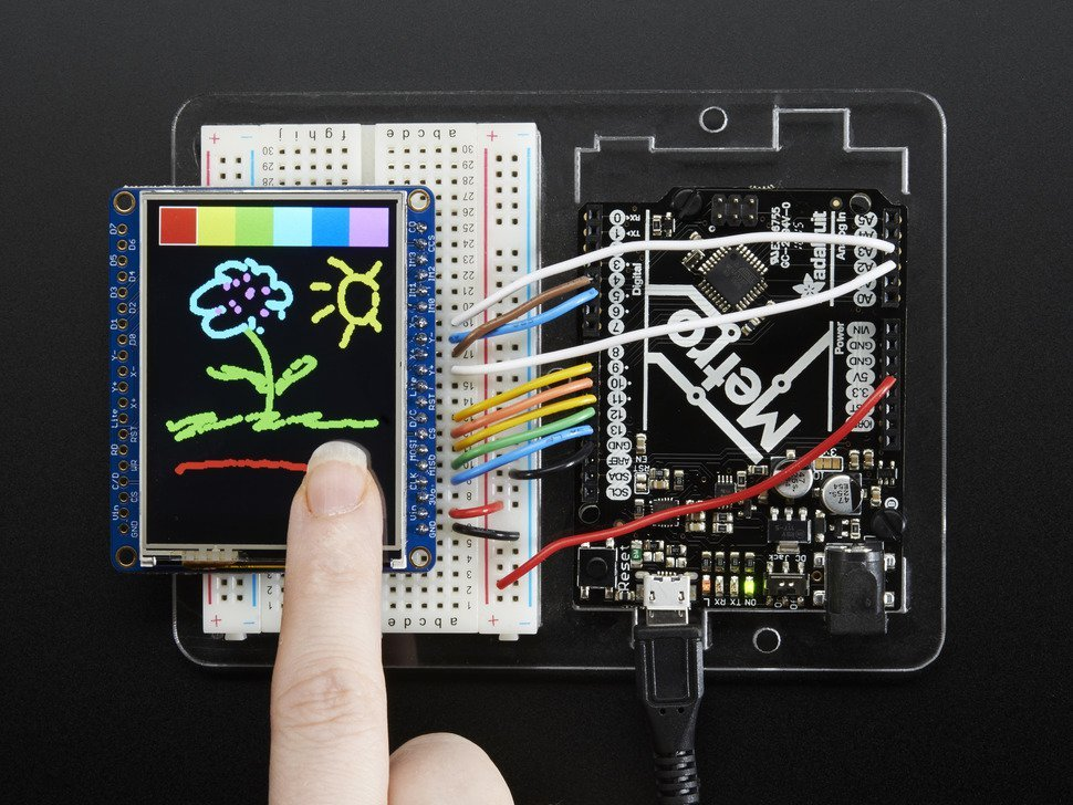 Adafruit 2 dot 4 tft lcd with touchscreen b 4037119284