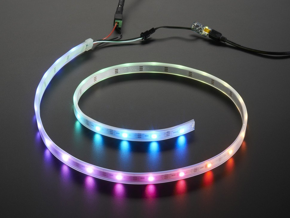 Adafruit neopixel led strip starter pack 3047894862
