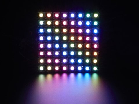 Flexible 8x8 NeoPixel RGB LED Matrix