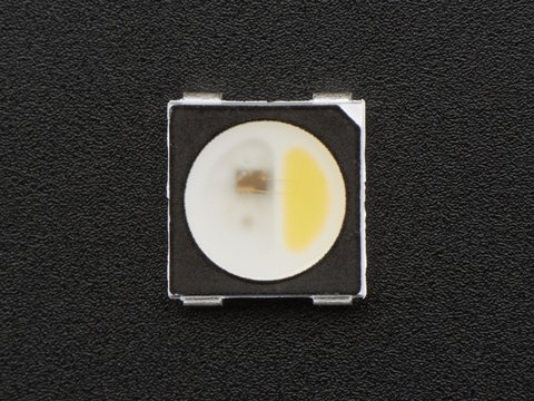 NeoPixel RGBW LEDs w/ Integrated Driver Chip - Natural White - 4500K - Black Casing - 10 Pack