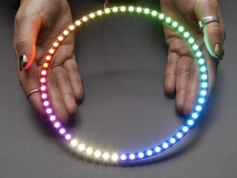 NeoPixel 1/4 60 Ring - 5050 RGBW LED w/ Integrated Drivers - Natural White - 4500K
