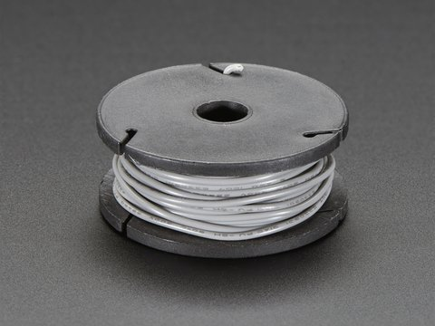 Solid-Core Wire Spool - 25ft - 22AWG - Gray