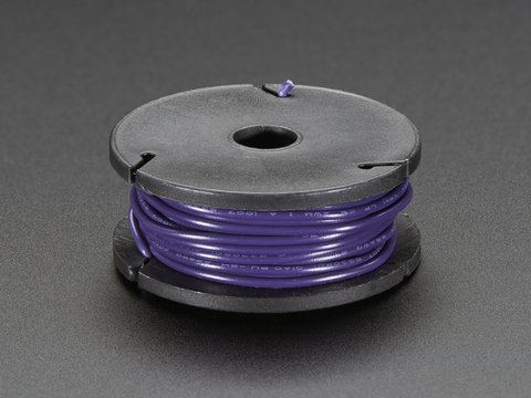 Solid-Core Wire Spool - 25ft - 22AWG - Violet