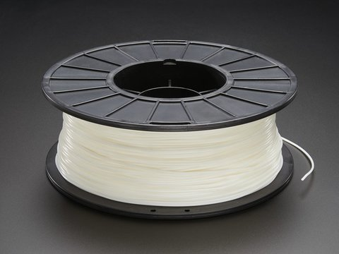 PLA/PHA Filament for 3D Printers - 1.75mm Diameter - Natural White