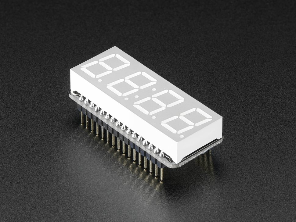 Adafruit 0 dot 56 4 digit 7 segment feather 9318902975