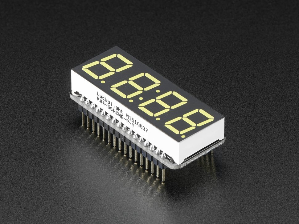 Adafruit 0 dot 56 4 digit 7 segment display 9296468264