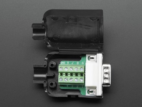DE-9 (DB-9) Male Plug to Terminal Block Breakout