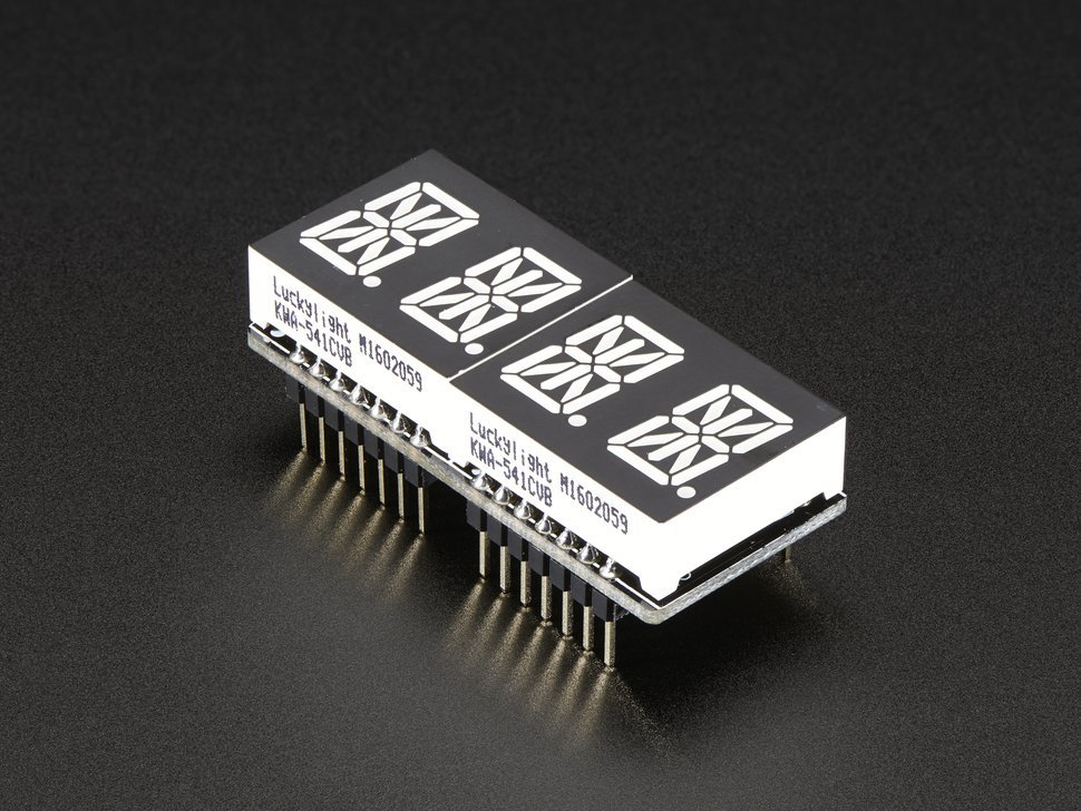 Adafruit 0 dot 54 quad alphanumeric feather 7545883335