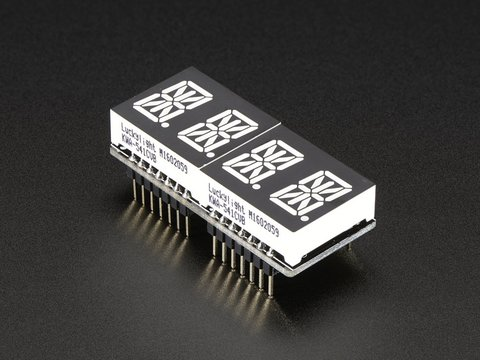 "Adafruit 0.54"" Quad Alphanumeric FeatherWing Display - Blue"