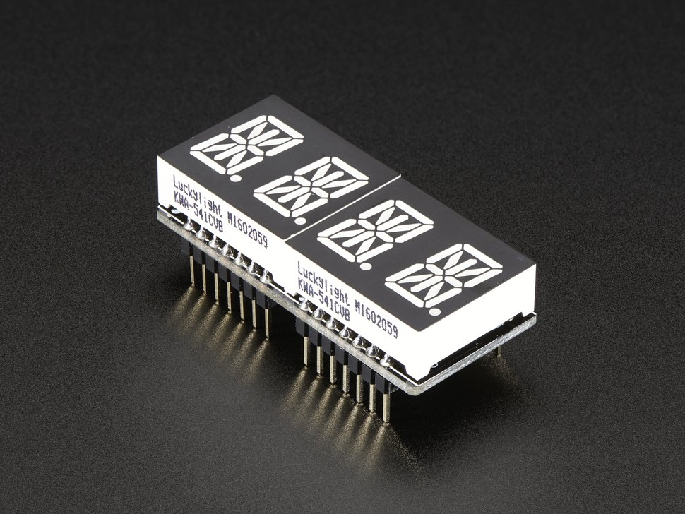 Adafruit 0 dot 54 quad alphanumeric feather 3033816170