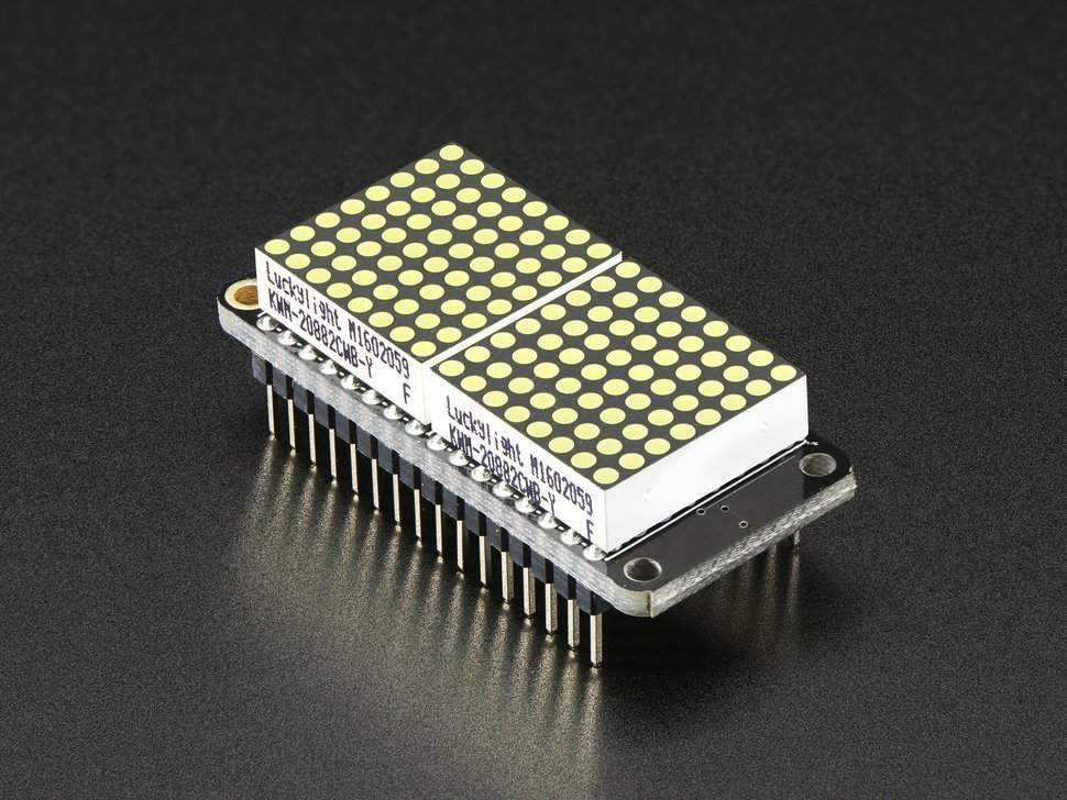 Adafruit 0 dot 8 8x16 led matrix featherwin 5625931071